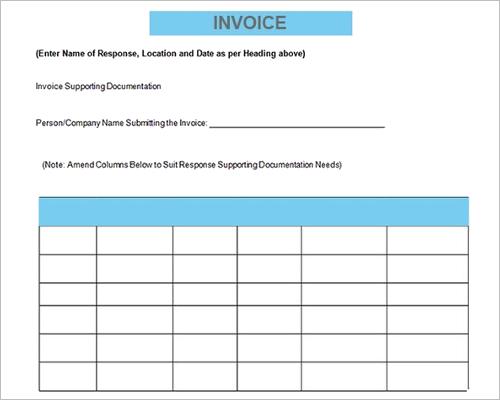 Free Contractor Invoice Template  Free Contractor Invoice