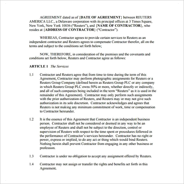 Free Freelance Contract Agreement Template