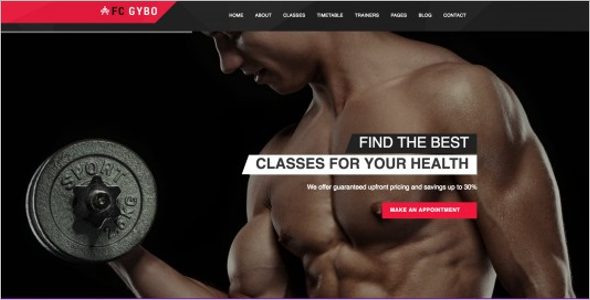 Free Gym HTML5 Template
