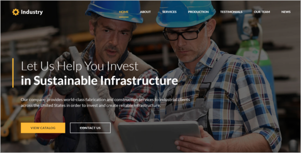 Free Industrial HTML5 Template