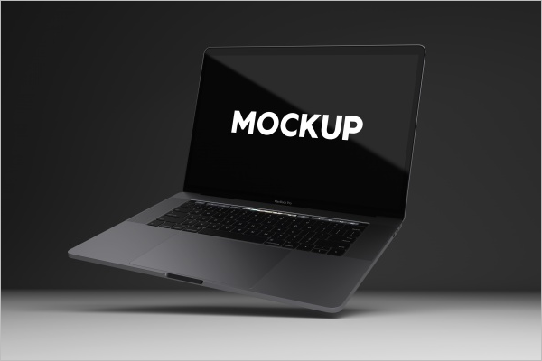 Free Laptop Mockup Template
