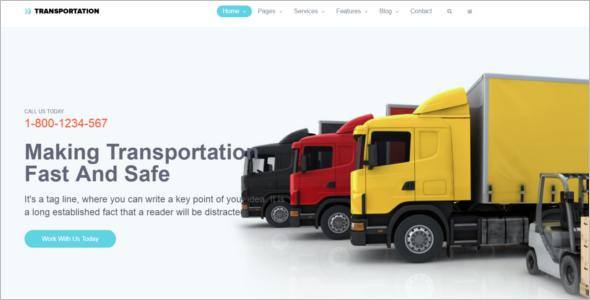 Free Logistics HTML5 Template