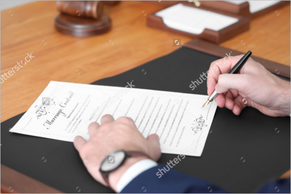 Free Marriage Contract Template