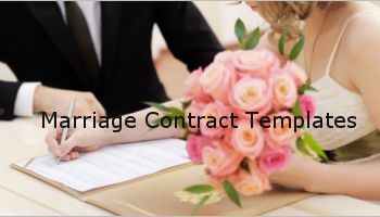 Free Marriage Contract Templates