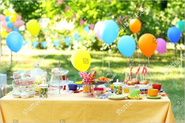Free Outdoor Table Decoration Idea