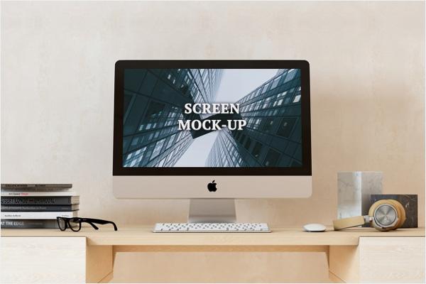 Free PSD iMac Mockup Design