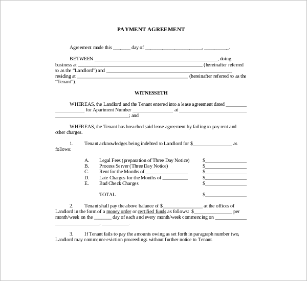 FreePayment Agreement Template