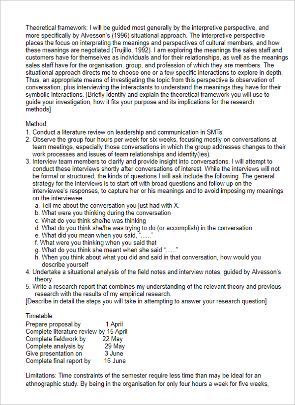 Free Research Proposal Template
