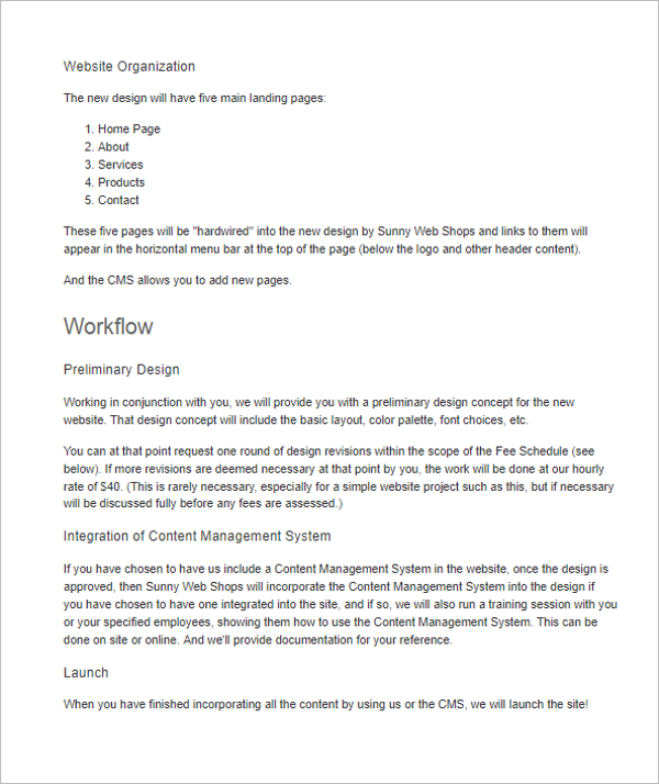 Free Web Design Proposal Template