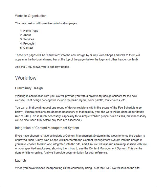 30 website proposal templates free word excel pdf samples
