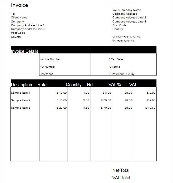 Freelance Invoice Template Google Doc