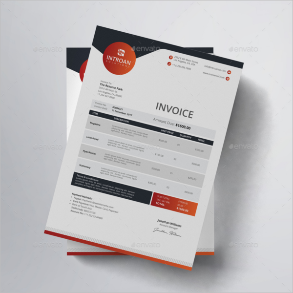 Freelancer Invoice Template Word