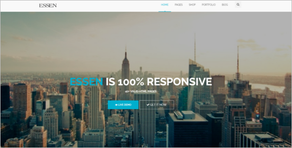 Fully Customizable HTML5 Template