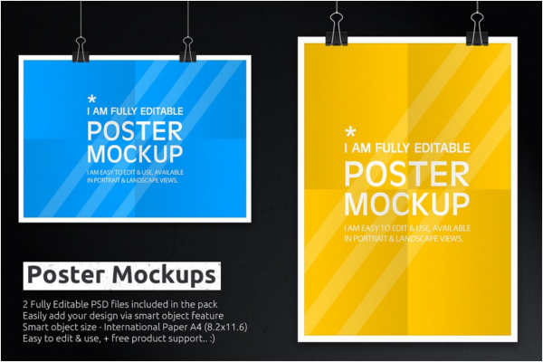 Fully Editable Poster Mockup Design