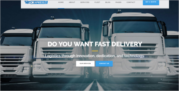 Fully Responsive Transport Website Theme