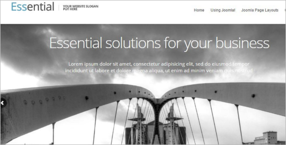 Fully responsiveMobile Friendly Joomla Template