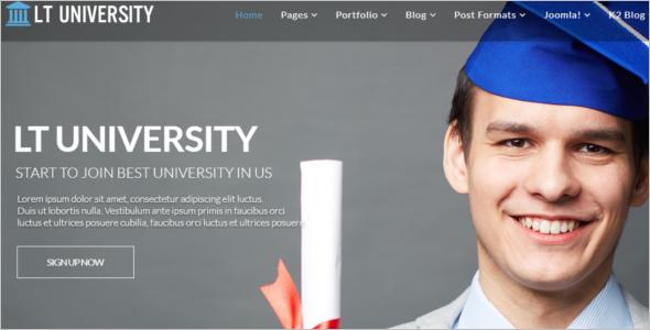 Fully responsiveUniversity Joomla Theme