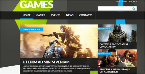 Gaming Joomla Clan Template