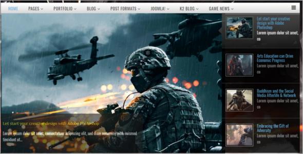 Gaming Joomla Template Free Download
