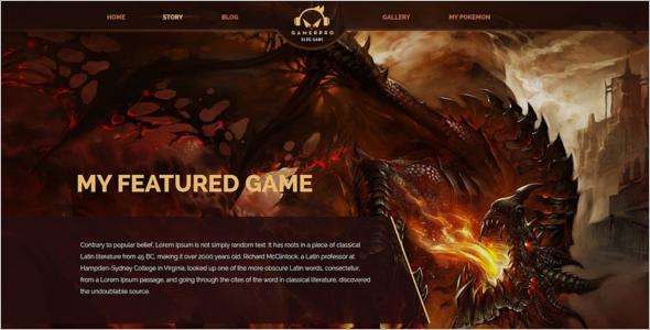 Gaming Website Joomla Template