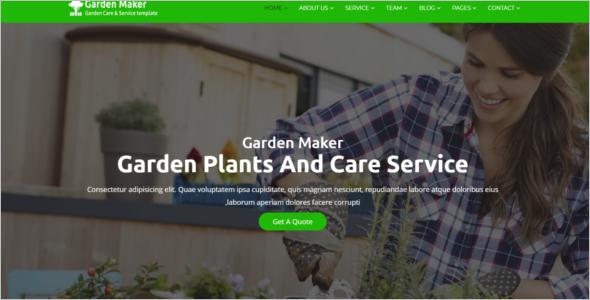 Garden Service HTML5 Template