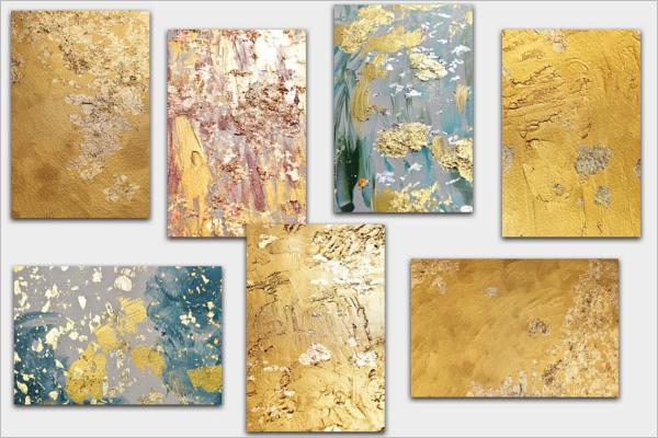Gold Texture PSD Design