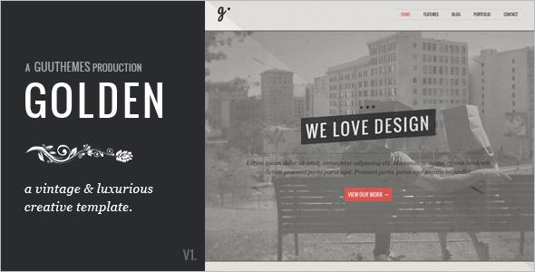 Golden Vintage CSS Template