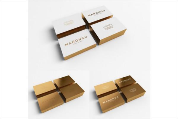 GoldenVisiting Cards Mockup