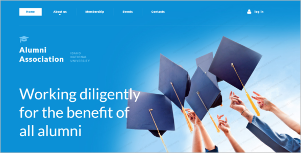 Graduation University Website Template