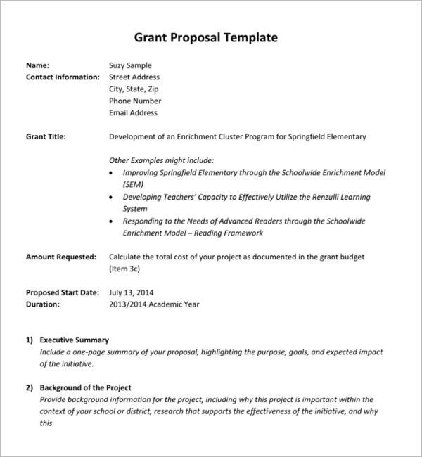 46 free grant proposal templates word pdfsamples formats grant proposal template download pronofoot35fo Images