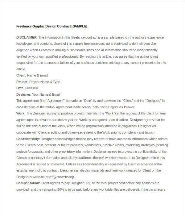 Graphic DesignFreelance Contract Template