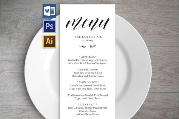 GraphicalMenu Card Design