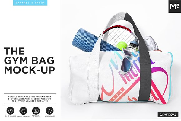 Gym Bag Mockup PSD