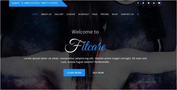 Gym HTML Website Template