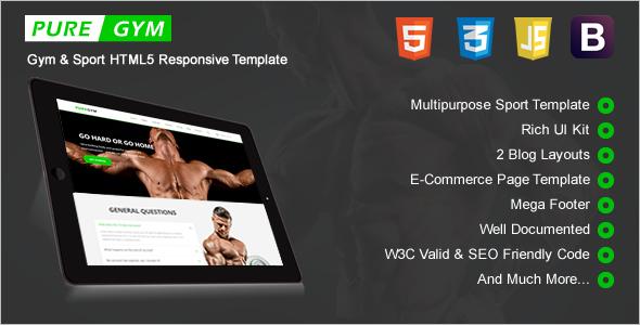 Gym HTML5 Responsive Template