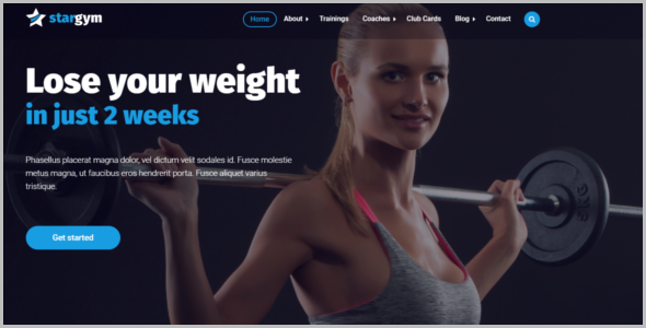Gym Html5 Template Creative Template
