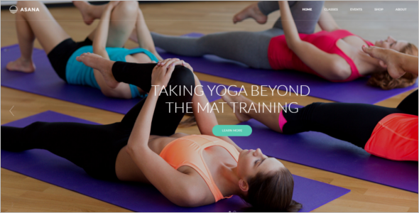 Gym Template For HTML5 Website