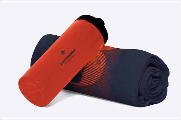 Gym Towel Mockup Design
