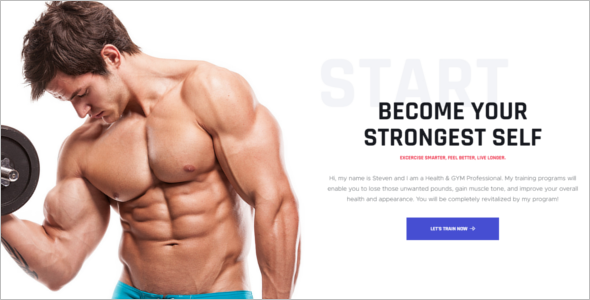 Gym Trainer HTML5 Template