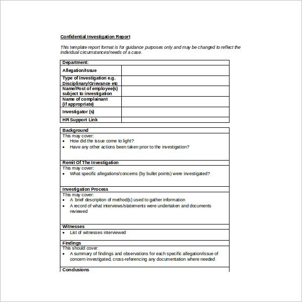 HR Quarterly Report Template