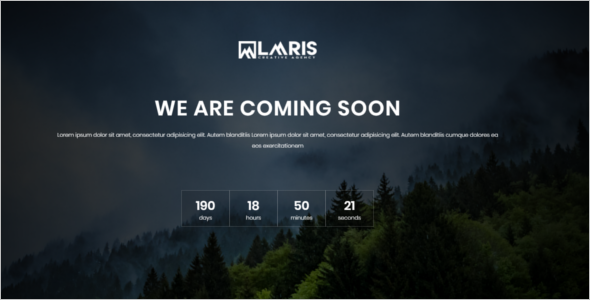 HTML Web Coming Soon Template