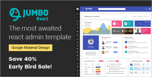 HTML5 Admin Dashboard Template