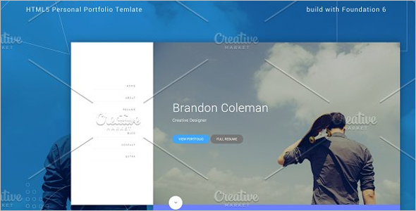 HTML5 Personal Template