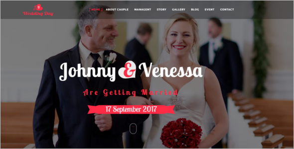 HTML5 Responsive Wedding Template