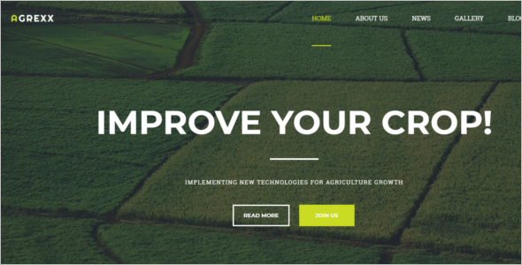 HTML5 Template For Agriculture