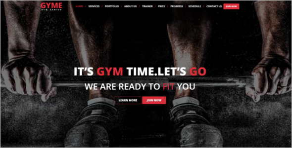 HTML5 Template For Gym