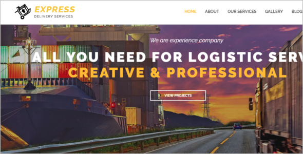 HTML5 Template For Logistics
