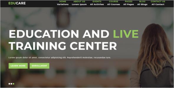 HTML5 University Website Template