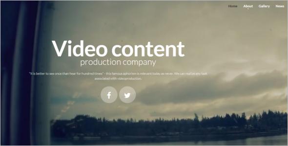 HTML5 Video Player Theme