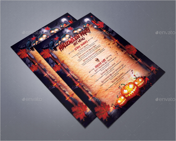 halloween party menu template - Menu Design Ideas